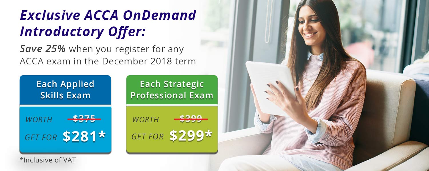 ACCA OnDemand Introductory offer